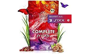 TRINKKOST COMPLETE Fruity - 7 Bio Mahlzeiten als Getränk - fruchtig und sättigend - Ideal als Frühstück Mahlzeitenersatz Trinknahrung oder Essen für Zwischendurch (500g Beutel)