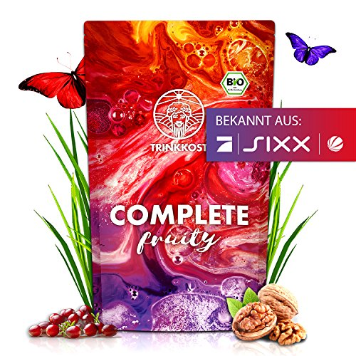 TRINKKOST COMPLETE Fruity - 7 Bio Mahlzeiten als Getränk - fruchtig und sättigend - Ideal als Frühstück Mahlzeitenersatz Trinknahrung oder Essen für Zwischendurch