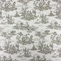 Beige Vintage Francese Lovers Scene Toile de Jouy cotone lino tessuto per tende tende e luce morbida imbottitura 140cm larghezza–Venduto Al Metro