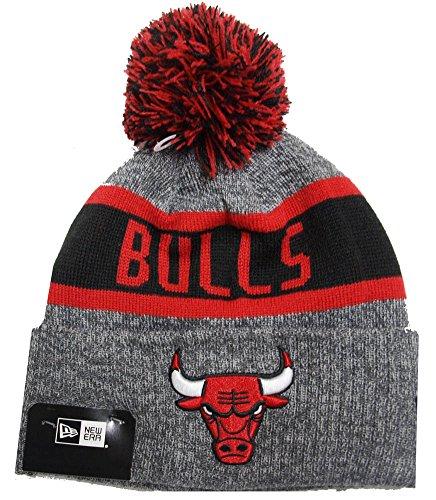 New Era NBA Marl Knit Bommelmütze CHICAGO BULLS Grau, Size:ONE SIZE