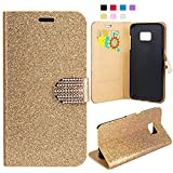 Galaxy S7 Edge Case, FISHBERG Luxury Cover Bling...