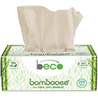 Eco Friendly Brand - Beco! Bambooee Natural Facial Tissue Carbox - 200 Pulls (Pack of 3) Natural & Organic Bamboo Tissue…