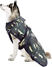 Sage Square Dog Winter Ultra Warm Camouflage Army Coat Thicker Fleece Dog Hoodie Vest for Cold Weather (Size: XLarge) (26 Inc