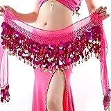 Reefa Ceinture Foulard/Jupe/Robe Costume pour Danse Orientale Danse de l'Inde Danse du Ventre pour Femme et Fille-Longueur Totale: 160cm / 62.99Pouces...