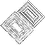 FineGood - Lot de 2 matrices de découpe rectangulaires pour la fabrication de cartes, le gaufrage, les albums de scrapbooking