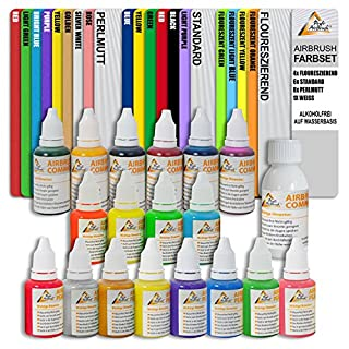 Super Price! Water-Based Airbrush Paint Set for Airbrush Compressor and Airbrush Gun Basic Equipment for Each Airbrush Set Gift Packaging Universal Suitable for Airbrush Tattoo