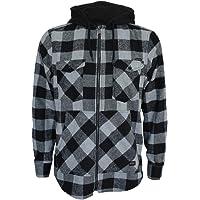 ROCK-IT Apparel® Camicia Uomo Manica Lunga in Flanella a Quadri con Cappuccio Camicia da Boscaiolo Camicia a Quadri…