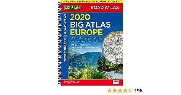 2020 Philip S Big Road Atlas Europe A3 Spiral Binding Philip S Road Atlases Amazon De Philip S Maps Fremdsprachige Bucher