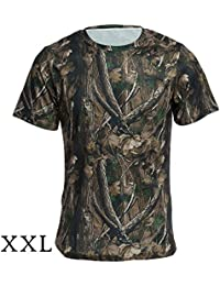 14b9bbcf2d PLAY HARD JUNGLEMAN C164 Outdoor Camouflage T-Shirt Tactical Military Short  Sleeve (Camouflage Color