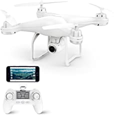 Potensic T25 Drone GPS con Videocamera 1080P HD WiFi FPV RC 2.4Ghz Quadricottero Telecomandato con Funzione Grandangolare-Regolabile Camera Seguimi Sospensione Altitudine Senza testa e Controllo di Più Lunga Distanza