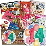 14 Hochzeitstag Geschenk | Ostbox mit Süßigkeiten | Geschenkset