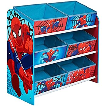 Marvel Spider Man Kids Bedroom Storage Unit With 6 Bins By HelloHome