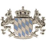 Ampia Hutanstecker -, Hutabzeichen, Hutschmuck, celesti: ingrandimenti Bandiera bavarese