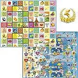 Tappeto Bambini Ultra Spessore 92715 Ideale per il gattonamento 180x150x2 Double Face ( Lettere/Numeri ) - Novita'
