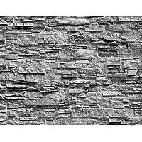 Fototapeten Steinwand 3D Effekt Grau 352 X 250 Cm Vlies Wand Tapete  Wohnzimmer Schlafzimmer Büro Flur
