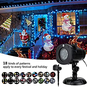 Party Projector for Indoor /Outdoor Celebration ,Christmas ,Halloween,Birthday etc 12 Modes