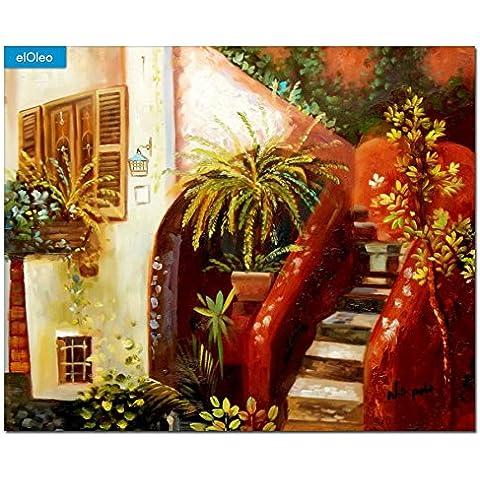 elOleo 86341A pittura olio Piazza Terracotta -