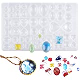 Kissral siliconen sieradenharsvormen, kralen gietvorm kristal epoxy hars mal voor doe-het-zelf, sieraden hanger maken en knut
