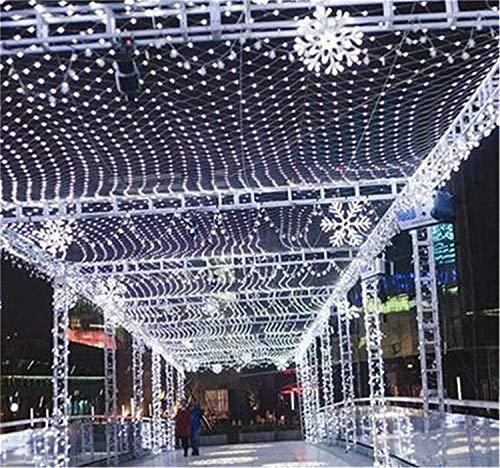 QHCGOOD Net Lights Fairy Light, LED-Batterie Netze bis Solar-Fenster wasserdicht im Freien Weihnachten Hochzeitsdekorationen, weiß, 2 * 2m