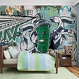 Graffiti Street Art - Forwall - Fototapete - Tapete - Fotomural - Mural Wandbild - (1396WM) - XL - 208cm x 146cm - VLIES (EasyInstall) - 2 Pieces