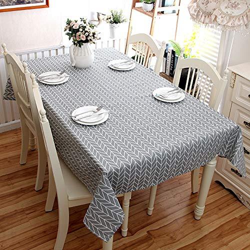 LETAMG Tischdecke Tischwäsche Geometrische Linie Graue Schachbrett Trapezförmige Rechteckige Tischdecke Couchtisch Tischdecke Tischdecke, 90 * 150Cm
