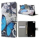 Tasche Hüllen Schutzhülle - Case cover Blau Butterfly