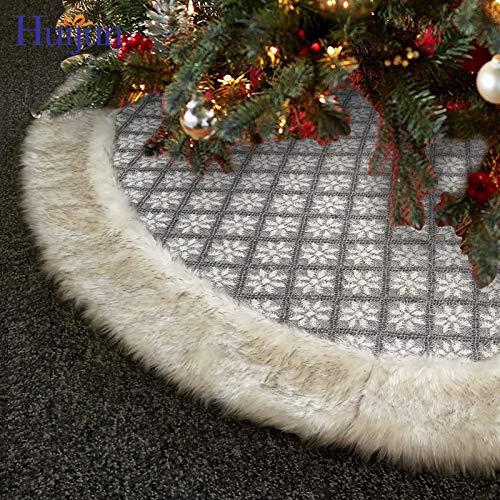 TONGS Oggetti Decorativi Di Natale,120Cm Gonne Albero Di Natale,Albero Di Natale Decorazione Forniture Accessori per la Vacanza/grigio / 120cm