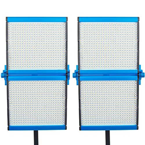 dracast S Serie faltbar Bi-Color LED1000Video Panel 2-flammige Wandleuchte Kit, Blau (drasf-lk-2X 1000B) - Serie 2-licht Wandleuchte