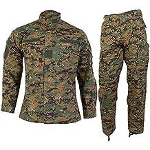 Uniforme militar de camuflaje vegetal compuesto de chaqueta y pantalón Digital Woodland Marpat L