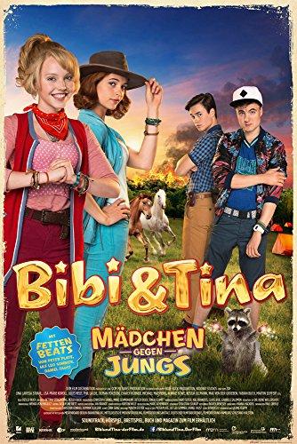 Preisvergleich Produktbild Bibi & Tina - Mädchen gegen Jungs Film Maxi-Poster Druck Poster Blocksberg - Grösse 61x91, 5 cm + 2 St Posterleisten Kunststoff 62 cm transparent