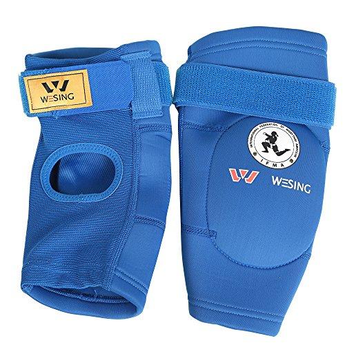 WESING Muay Thai Ellbogenschoner Ellbogenschutz, blau, X-Small