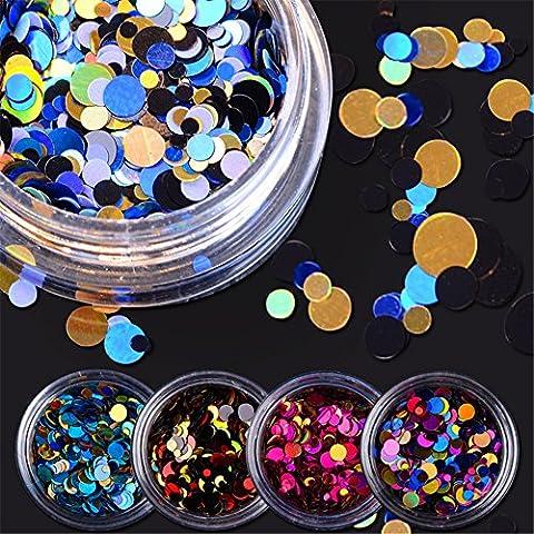 Born Pretty 1Box Colorful Glänzende Runde Ultrathin Pailletten Nail Art Dekoration Maniküre DIY Decor