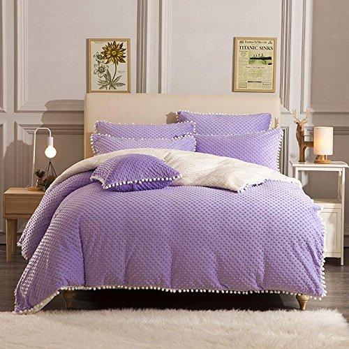 processo di modellazione Fa sentire raffinato velluto principessa bambino assestamento una famiglia di quattro size 1.5-1.8m , purple ,