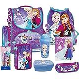 Frozen - Die Eiskönigin Schulranzen Ranzen Schulrucksack Rucksack Set 8 teilig