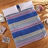 Yellow star Komfortable Tatami Boden Matte, Faltbare sitzkissen matten Japanischen Futon matratzenauflage Gesteppt Bett Anti-Rutsch-Schutz-Pad-G 90x200cm(35x79inch)