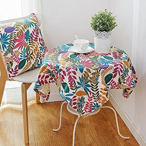 Longzhi American Country Garden petit tissu frais de table linge de coton B 140*180cm