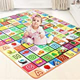 AYSIS Double Sided Water Proof Baby Mat Carpet Baby Crawl Play Mat Kids Infant Crawling Play Mat Carpet Baby Gym Water…