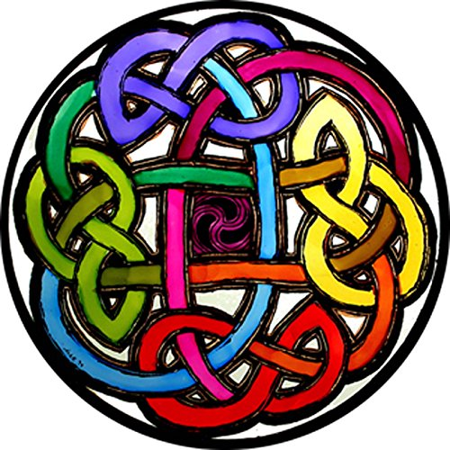 Vetro colorato per decorare finestre, decorazione ad applicazione statica, motivo: nodo celtico (Eterna Nodo)
