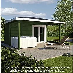 Infraworld Poolhaus Living 2 Größe 445 x 230 cm in nord. Fichte 391051 Standardausführung