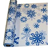 Snowflake Print Tablecloth Roll (40