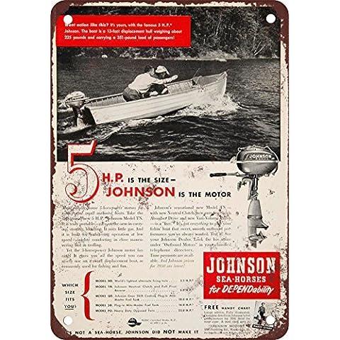 1950Johnson fuoribordo barca motori vintage Riproduzione in