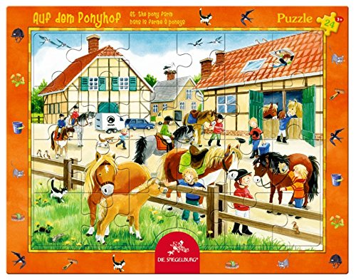 spiegelburg-24-piece-at-the-pony-farm-frame-puzzle-37-x-29-cm-model-11415