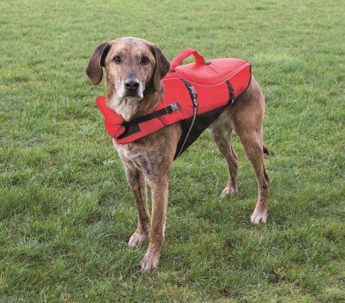 Artikelbild: Trixie 30145 Schwimmweste, für Hunde, XL: 65 cm/max. 45 kg, rot/schwarz