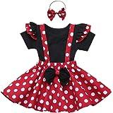 Costume per Halloween o carnevale da Minnie Pagliaccetto Blancanieve Sirena,per Bambina Tutu Principessa Abiti per Natale Festa Cerimonia Vestito da Compleanno Comunione Fotografia Ragazze Vestito