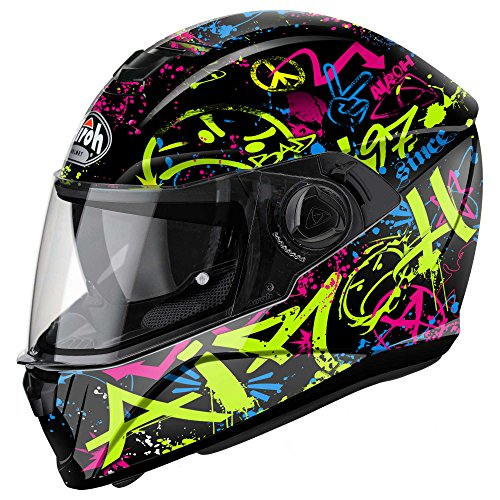 Airoh - casco moto airoh storm cool bicolor gloss stcb17 - cast12e - xl