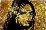 Cara Delevingne efecto brillante Art Foto firmada de Pre?Póster de gran calidad?12x 8pulgadas de impresión (A4)