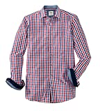 OLYMP Hemd Trachtenhemd Level 5 Body Fit Rot/Blau, Größe L