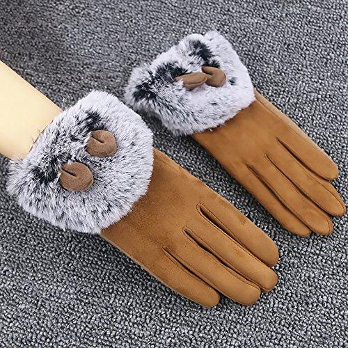 Gestrickte Handschuhe Frauen Handschuhe Winter Touchscreen Studenten Verdickung Fahren Auto Fahrrad / Arbeit / Freizeit / Lernen Warme Winter Handschuhe 4 farben sind verfügbar Warme Handschuhe ( Farbe : C )