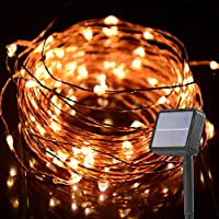 HAHOME String luce solare, 10,1m 132LED Starry Luci, Luci Ambiance illuminazione per esterni giardini case Art déco Copper Wire-Warm White