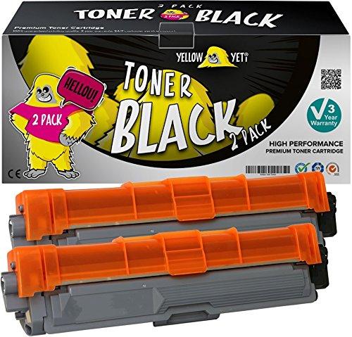 Yellow Yeti TN241BK TN242BK (2500 Seiten) 2 Schwarz Premium Toner kompatibel für Brother HL-3140CW 3150CDW 3170CDW DCP-9015CDW 9020CDW MFC-9140CDN 9330CDW 9340CDW 9332CDW 9142CDN [3 Jahre Garantie] (Drucker Laser 9340 Brother)